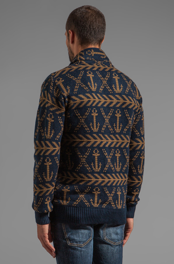 Obey Anchors Heavyweight Cardigan