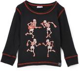 Nano Black & Red Skeletons Thermal Tee - Infant, Toddler & Boys
