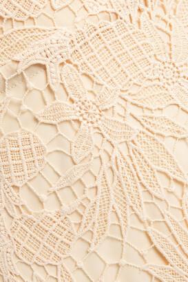 Maria Lucia Hohan Midori Fluted Lace-up Cotton Guipure Lace Midi Dress