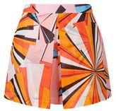 Emilio Pucci Geometric Print Cotton Shorts