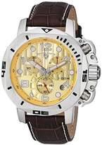 Swiss Legend Men's 10538-010 Scubador Chronograph Brown Leather Watch