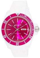 Jet Set Bubble Unisex Analogue Watch with Pink Dial Analogue Display - J83491-20