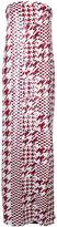 Oscar de la Renta striped houndstooth gown - women - Silk/Sequin - 4