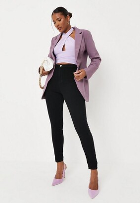 Missguided Tall Black Outlaw High Waisted Jeggings