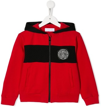 Roberto Cavalli Junior Chest Logo Bomber Jacket