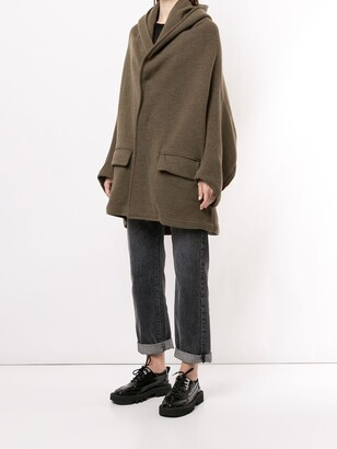 Y's Oversized Hooded Cape Coat