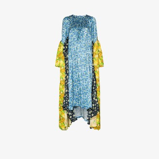 Vetements Handkerchief Floral Print Midi Dress