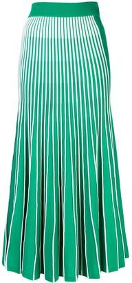 Alexis Vanie pleated midi skirt