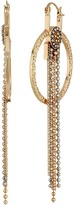 Steve Madden Ring Bead Chain Fringe Dangle Earrings Earring
