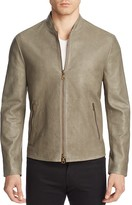 John Varvatos Collection Sage Brush Lamb Leather Jacket