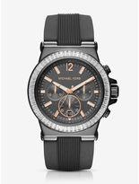 Michael Kors Dylan Pavé Gunmetal Silicone Watch