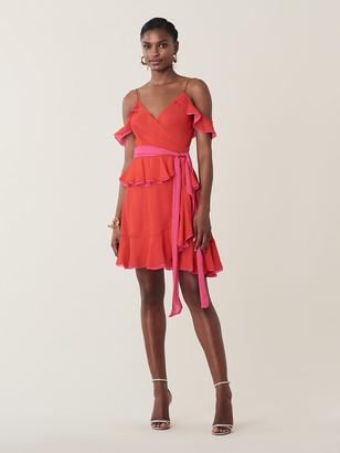 Diane von Furstenberg Karla Ruffled Silk-Chiffon Wrap Dress