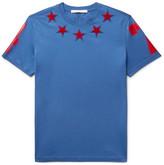 Givenchy Cuban-Fit Star-Appliquéd Cotton-Jersey T-Shirt