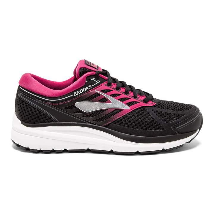 Brooks Women's Addiction 13 2E Width Running Shoe (BRK-120253 2E 4086750 7 BLK/PNK/Gry)