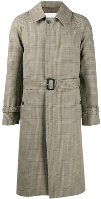 MACKINTOSH Belted Houndstooth Trench Coat