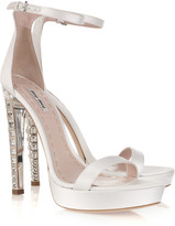 Miu Miu Crystal-heel silk-satin platform sandals