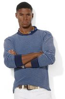 Polo Ralph Lauren Long-Sleeved Striped Waffle-Knit Crewneck