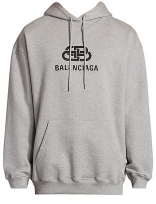 Balenciaga Brushed Molleton Logo Hoodie