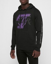 Express Los Angeles Lakers Upside Down Nba Fleece Sweatshirt