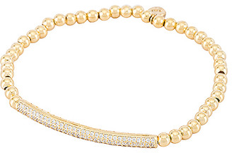 Tai Beaded Stretch Bracelet with Pave Bar
