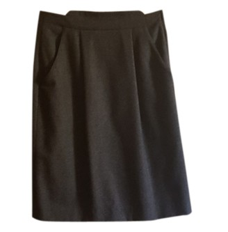 Giorgio Armani Anthracite Wool Skirt for Women