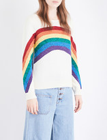 Marc Jacobs Rainbow-motif cotton-blend jumper