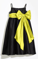 Us Angels Girl's Sleeveless Empire Waist Taffeta Dress