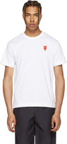 Comme des Garcons White Long Heart T-shirt