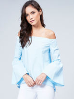 525 America Off The Shoulder Bell Sleeve Top