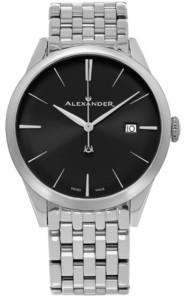 Stuhrling Original Alexander Watch A911B-03, Stainless Steel Case on Stainless Steel Bracelet