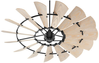 Quorum Windmill Patio Fan, Noir