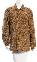Bottega Veneta Quilted Leopard Print Coat