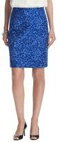 LOFT Ripple Jacquard Cotton Pencil Skirt