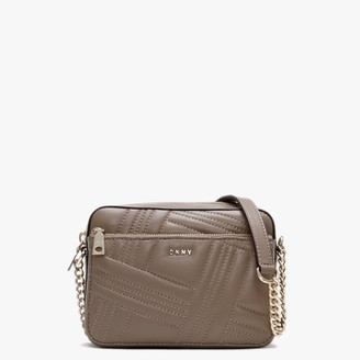 DKNY Allen Quilted Dun Leather Camera Bag