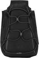 Y-3 elasticated lace-up front backpack - unisex - Leather/Polyurethane - One Size