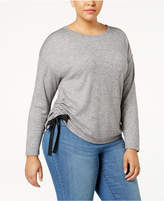 INC International Concepts Plus Size Side-Tie Sweatshirt, Created for Macy's