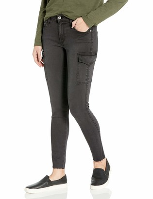 James Jeans Women's J Twiggy Ankle Cargo Skinny Jean with Raw Hem