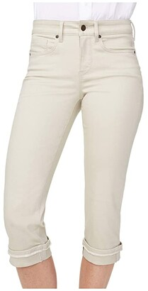 NYDJ Marilyn Crop Jeans with Frayed Cuffs in Feather (Feather) Women's Jeans