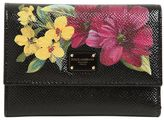Dolce & Gabbana Small Floral Embossed Leather Wallet