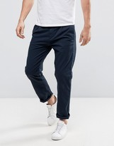 Sisley Chinos In Relaxed Fit With Stripe Texture