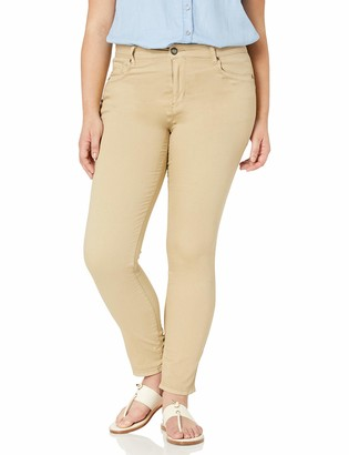 Cover Girl Women's Plus Size Perfect Mid Rise Comfy Skinny Jeans