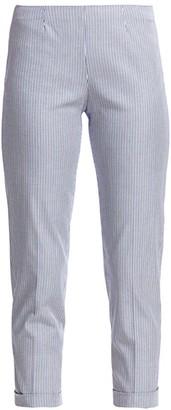 Piazza Sempione Audrey Striped Cuffed Pants
