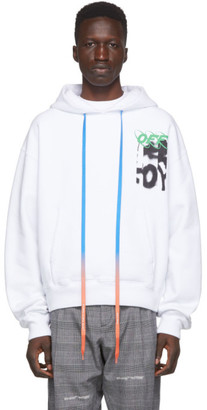 Off-White White Spray Blurred Over Hoodie