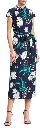 Erdem Finn Beaded Floral Midi Dress