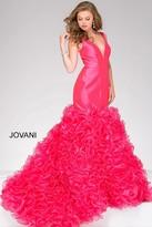 Jovani Long Mermaid Prom Dress with Ruffle 41639