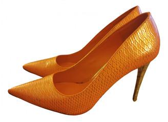Dune Orange Plastic Heels