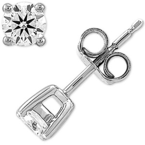 Forever Grown Diamonds Lab Created Diamond Stud Earrings (3/8 ct. t.w.) in Sterling Silver