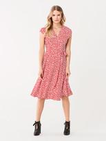 Diane von Furstenberg Goldie Crepe Wrap Dress