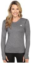 New Balance Heathered Long Sleeve Shirt