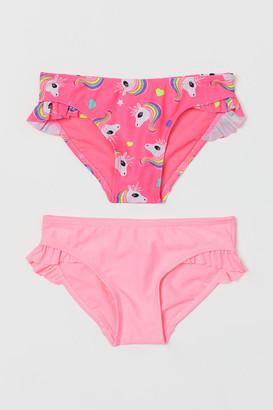 H&M 2-Pack Flounced Bikini Bottoms